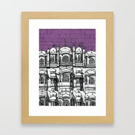 Hawa Mahal (Tyrian) Framed Art Print