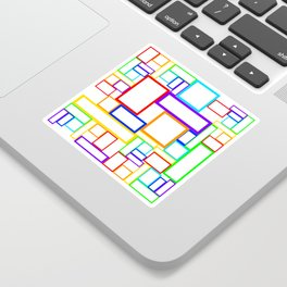 seamless abstract checkered background with multi colored lines Sticker