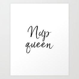 Nap Queen, Printable Art, Wall Decor Bedroom, Art, Bedroom Wall Art, Wall Decor, Girl Gift Art Print