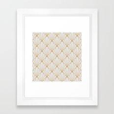 Art Deco Series - Grey & Gold Framed Art Print