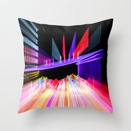 Moving Out zoom burst photograph Fremont Theater San Luis Throw Pillow