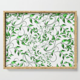 PALM LEAFY GREEN LEAVES Serving Tray