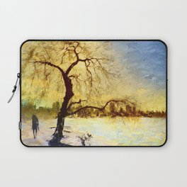 Walk Under the Willow Laptop Sleeve