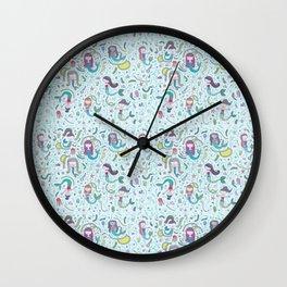 mermaid land Wall Clock
