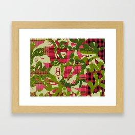 batik screen Framed Art Print