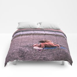 Sunset photo Comforters