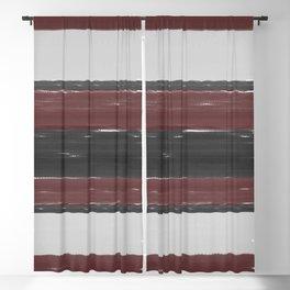 Maroon Stripe Blackout Curtain