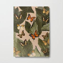 Butterfly Jungle Delight #1 #tropical #decor #art #society6 Metal Print