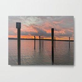 no fishing on docks Metal Print