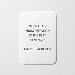 Stoic Philosophy Quote - Marcus Aurelius - The Best Revenge Bath Mat
