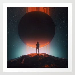 DARK SUN SUPERNOVA 8 (everyday 12.30.17) Art Print