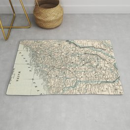 Vintage Map of Maine (1893) Rug