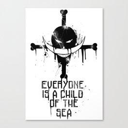 A Child of the Sea - black Canvas Print