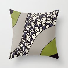 Green Rolled Throw Pillow