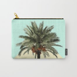 Palm Tree on Cyan and Lemon Wall Carry-All Pouch