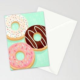 Donut trio Stationery Cards