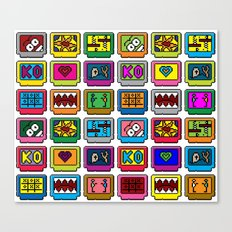 8-bit Game Cartridges Canvas Print