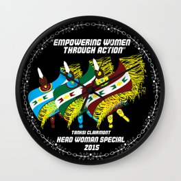 """Empowering Women Through Action"" Wall Clock"