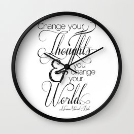 Change Your Thoughts Quote Wall Clock