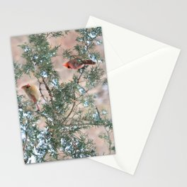 Winter Pair: Cardinals Stationery Cards