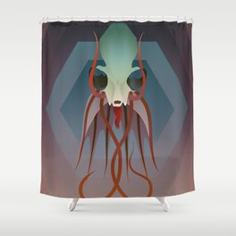 Pried In V Shower Curtain