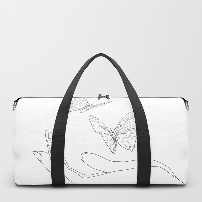 Butterflies on the Palm of the Hand Duffle Bag