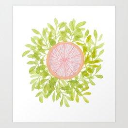 leafy grapefruit Art Print