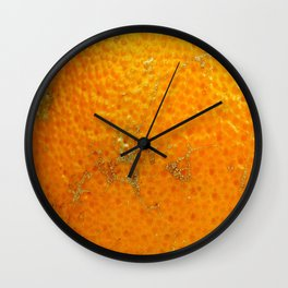 Orange Skin Wall Clock