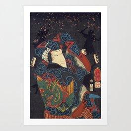 Harimaya Ichicawa Saruhachika Art Print