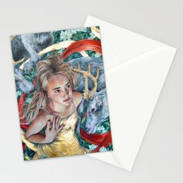 The Awakening, Goddess Artemis with Deer Stationery Cards