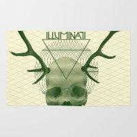 illuminati Area & Throw Rugs featuring IlluminatI by Tommy Cash