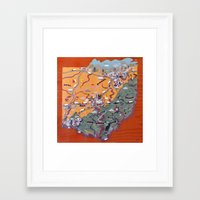 ohio Framed Art Prints featuring Ohio by Andy Stattmiller