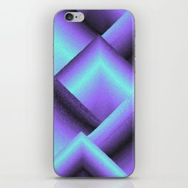 purple and blue mountains iPhone Skin