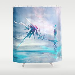 Symbiosis game concept art Shower Curtain