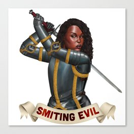 Paladin: Smiting Evil Canvas Print