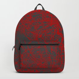Baltimore map red Backpack