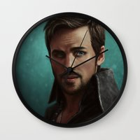 hook Wall Clocks featuring Hook by Ravenno