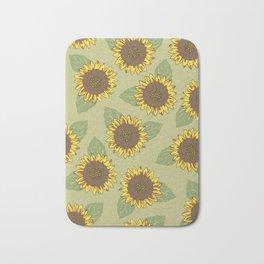 Vintage Sunflowers Bath Mat