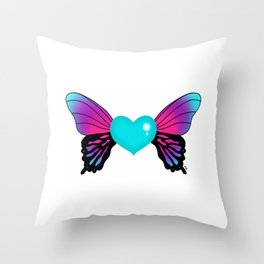Painted Soul - Butterfly Heart Throw Pillow