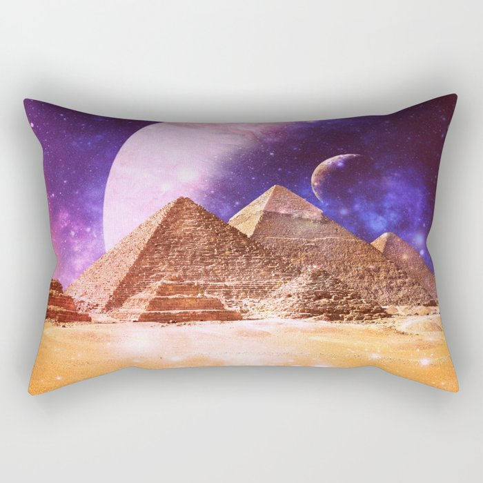 Galaxy Pyramids Rectangular Pillow