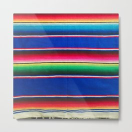Mexican Blanket Metal Print