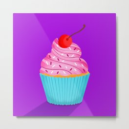 Pink Cupcake Metal Print