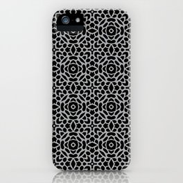 Lattice Grey iPhone Case