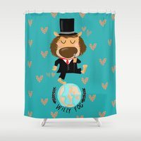 willy wonka Shower Curtains featuring willy fog by Sucoco