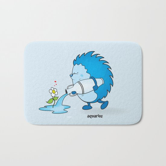 funny zodiac/aquarius Bath Mat