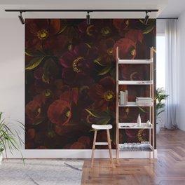 Vintage & Shabby Chic - Mystical Night Rose & Poppy Garden Wall Mural