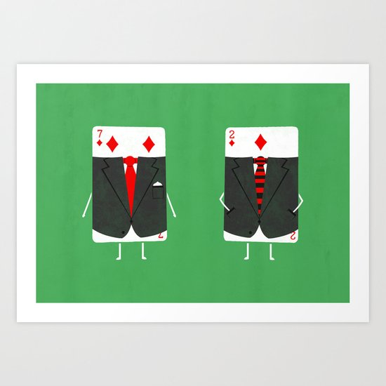Suited Cards Art Print