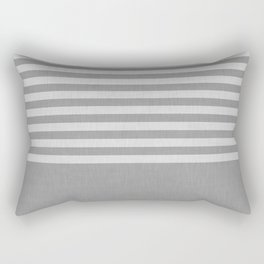 Gray color block and stripes Rectangular Pillow