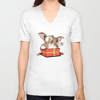 gizmo V-neck T-shirts featuring Gizmo Gift by The Drawbridge