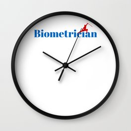 Top Biometrician Wall Clock